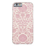 Modelo floral rosado del damasco funda de iPhone 6 barely there