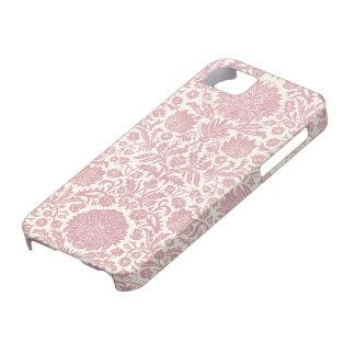 Modelo floral rosado del damasco iPhone 5 Case-Mate cárcasas