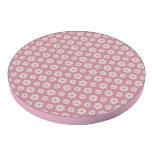 Modelo floral rosado femenino hermoso de la margar juego de fichas de póquer