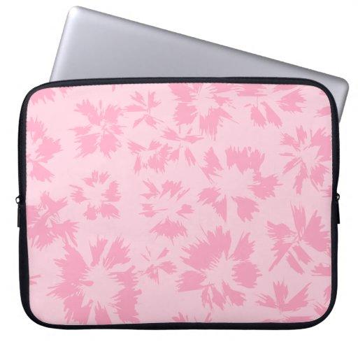 Modelo floral rosado funda computadora