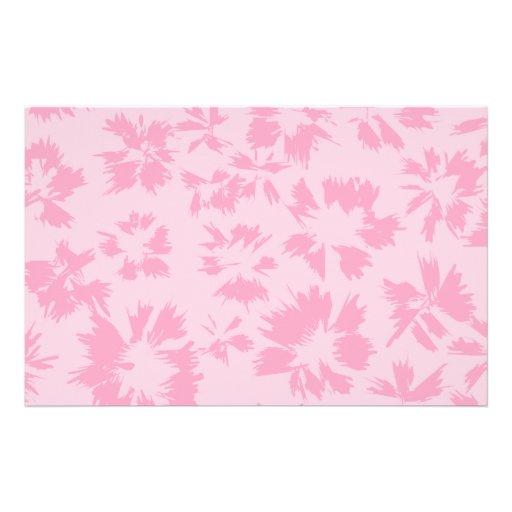 Modelo floral rosado papeleria personalizada