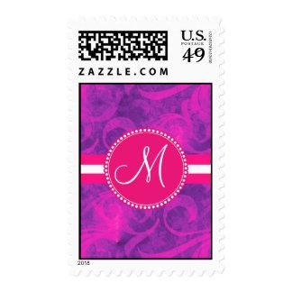 Modelo floral rosado púrpura del Flourish del Envio