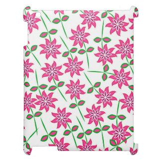 Modelo floral verde rosado abstracto moderno