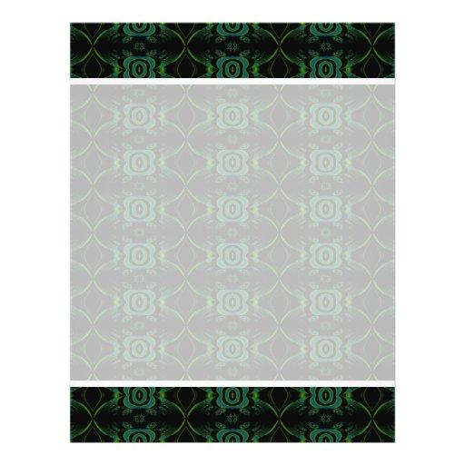 """Modelo floral verde y negro folleto 8.5"""" x 11"""""""