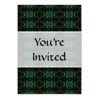 """Modelo floral verde y negro invitación 5"""" x 7"""""""
