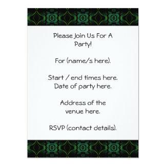 """Modelo floral verde y negro invitación 6.5"""" x 8.75"""""""