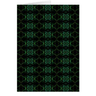 Modelo floral verde y negro tarjeta de felicitación