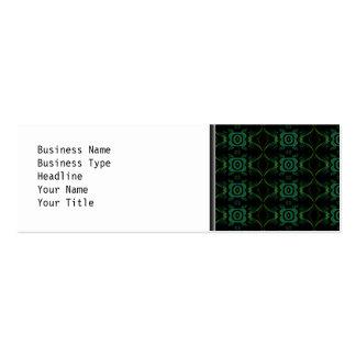 Modelo floral verde y negro tarjetas de visita mini