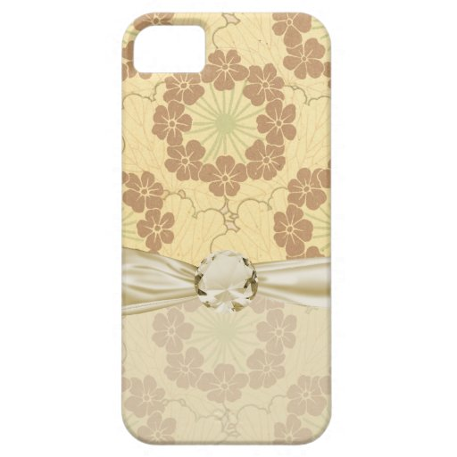 modelo floreciente del nouveau del arte de las flo iPhone 5 funda