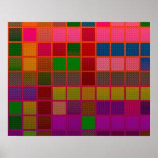 Modelo fluorescente del cubo poster