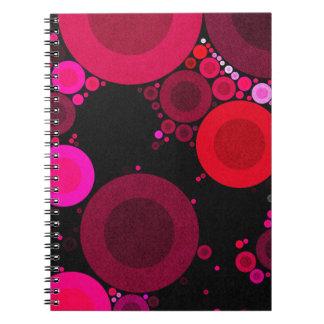 Modelo fluorescente retro del Polk-Punto Spiral Notebooks