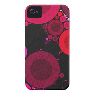 Modelo fluorescente retro del Polk-Punto iPhone 4 Case-Mate Cárcasa
