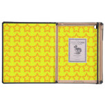 Modelo: Fondo amarillo con las estrellas anaranjad iPad Funda