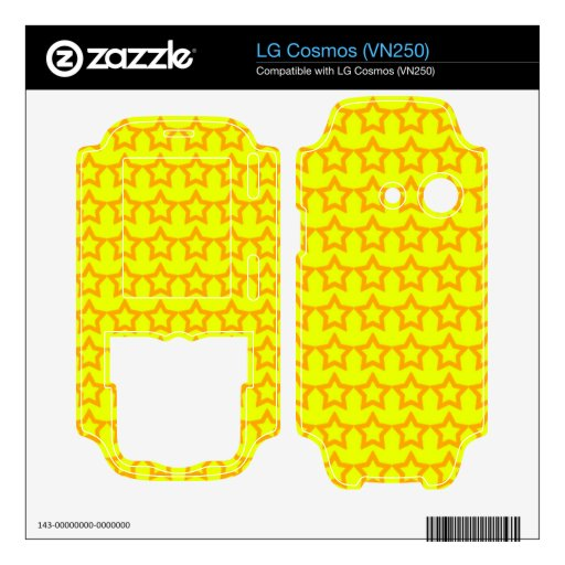Modelo: Fondo amarillo con las estrellas anaranjad Calcomanía Para LG Cosmos