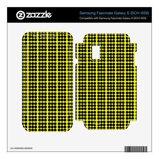 Modelo: Fondo amarillo con los círculos negros Samsung Fascinate Calcomanías