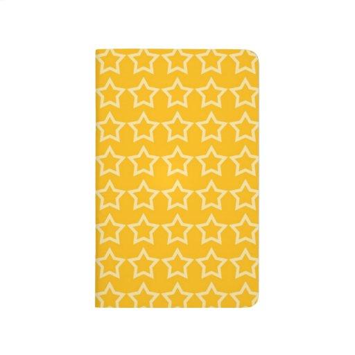 Modelo: Fondo anaranjado con las estrellas blancas Cuaderno Grapado