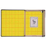 Modelo: Fondo anaranjado con los círculos amarillo iPad Protector