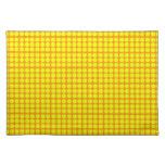 Modelo: Fondo anaranjado con los círculos amarillo Mantel