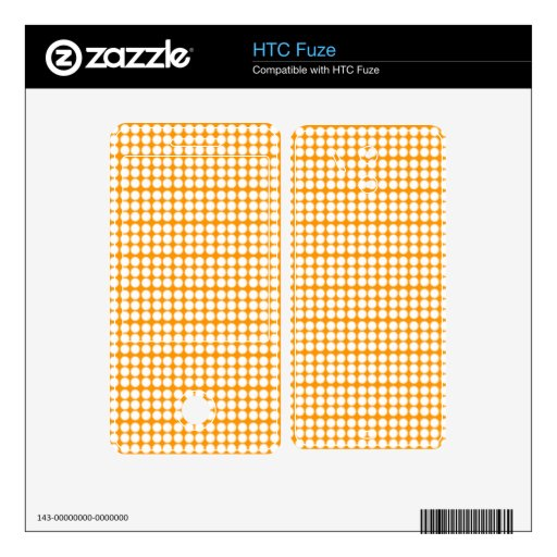 Modelo: Fondo anaranjado con los círculos blancos HTC Fuze Skins