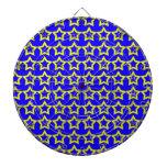 Modelo: Fondo azul con las estrellas amarillas Tablero De Dardos