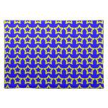 Modelo: Fondo azul con las estrellas amarillas Manteles Individuales
