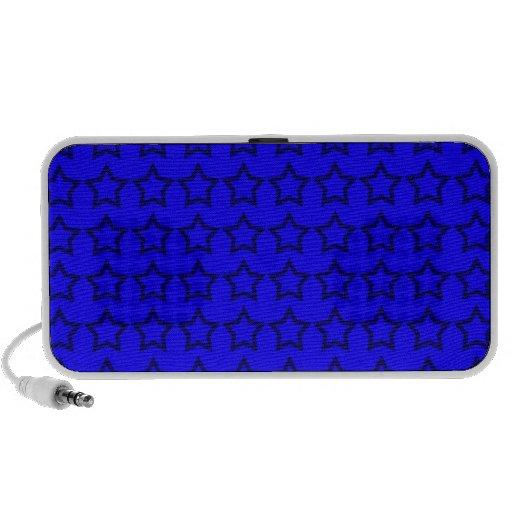 Modelo: Fondo azul con las estrellas negras Portátil Altavoces