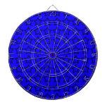 Modelo: Fondo azul con las estrellas negras Tablero De Dardos