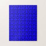 Modelo: Fondo azul con las estrellas negras Puzzle