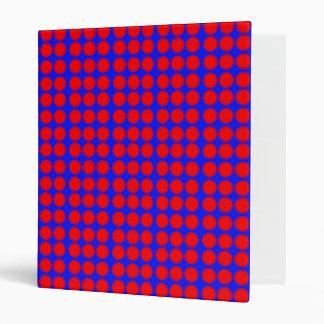 Modelo Fondo azul con los círculos rojos