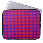 Modelo: Fondo azul con los círculos rojos Funda Portátil