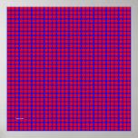 Modelo: Fondo azul con los círculos rojos Impresiones