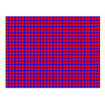 Modelo: Fondo azul con los círculos rojos Postal