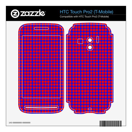 Modelo: Fondo azul con los círculos rojos HTC Touch Pro2 Skin