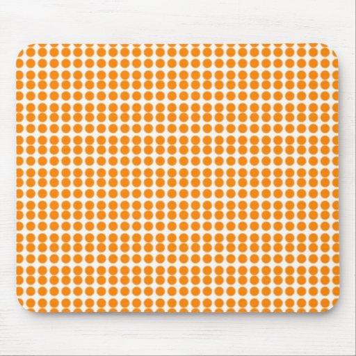 Modelo: Fondo blanco con los círculos anaranjados Tapete De Ratones