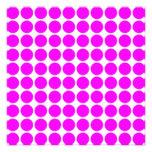 Modelo: Fondo blanco con los círculos rosados Comunicado