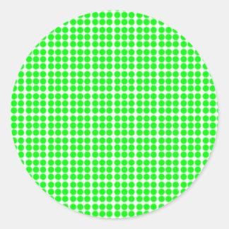 Modelo: Fondo blanco con los círculos verdes Pegatina Redonda