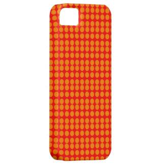 Modelo: Fondo rojo con los círculos anaranjados iPhone 5 Fundas