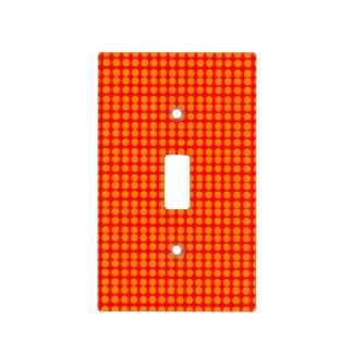 Modelo: Fondo rojo con los círculos anaranjados Placas Para Interruptor