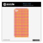 Modelo: Fondo rosado con los círculos amarillos Skins Para eliPhone 4S