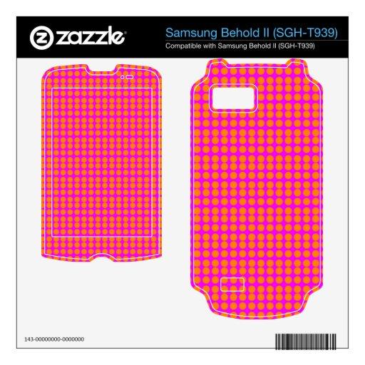 Modelo: Fondo rosado con los círculos anaranjados Samsung Behold II Calcomanía