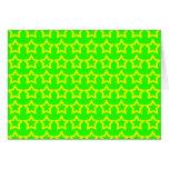 Modelo: Fondo verde con las estrellas amarillas Tarjetas
