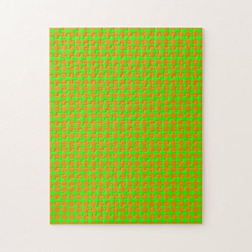 Modelo: Fondo verde con los círculos anaranjados Puzzles