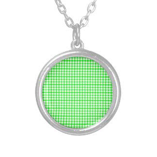 Modelo Fondo verde con los círculos blancos Joyerias