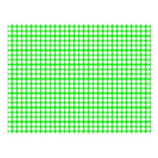 Modelo: Fondo verde con los círculos blancos Postal