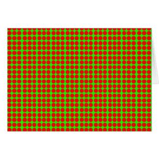 Modelo: Fondo verde con los círculos rojos Tarjeta De Felicitación