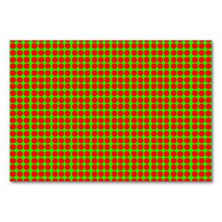 Modelo: Fondo verde con los círculos rojos