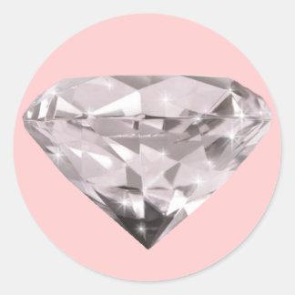 modelo formado de los diamantes pegatina redonda