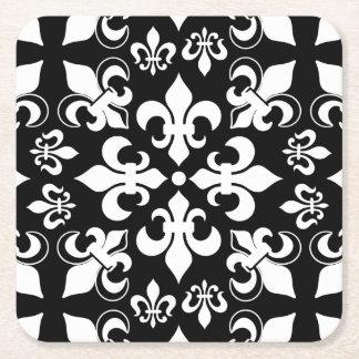 Modelo francés heráldico negro y blanco de la flor