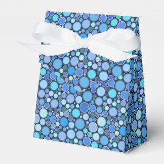 Modelo fresco azul de las burbujas caja para regalos