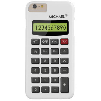 Modelo fresco de la calculadora de la diversión funda de iPhone 6 plus barely there